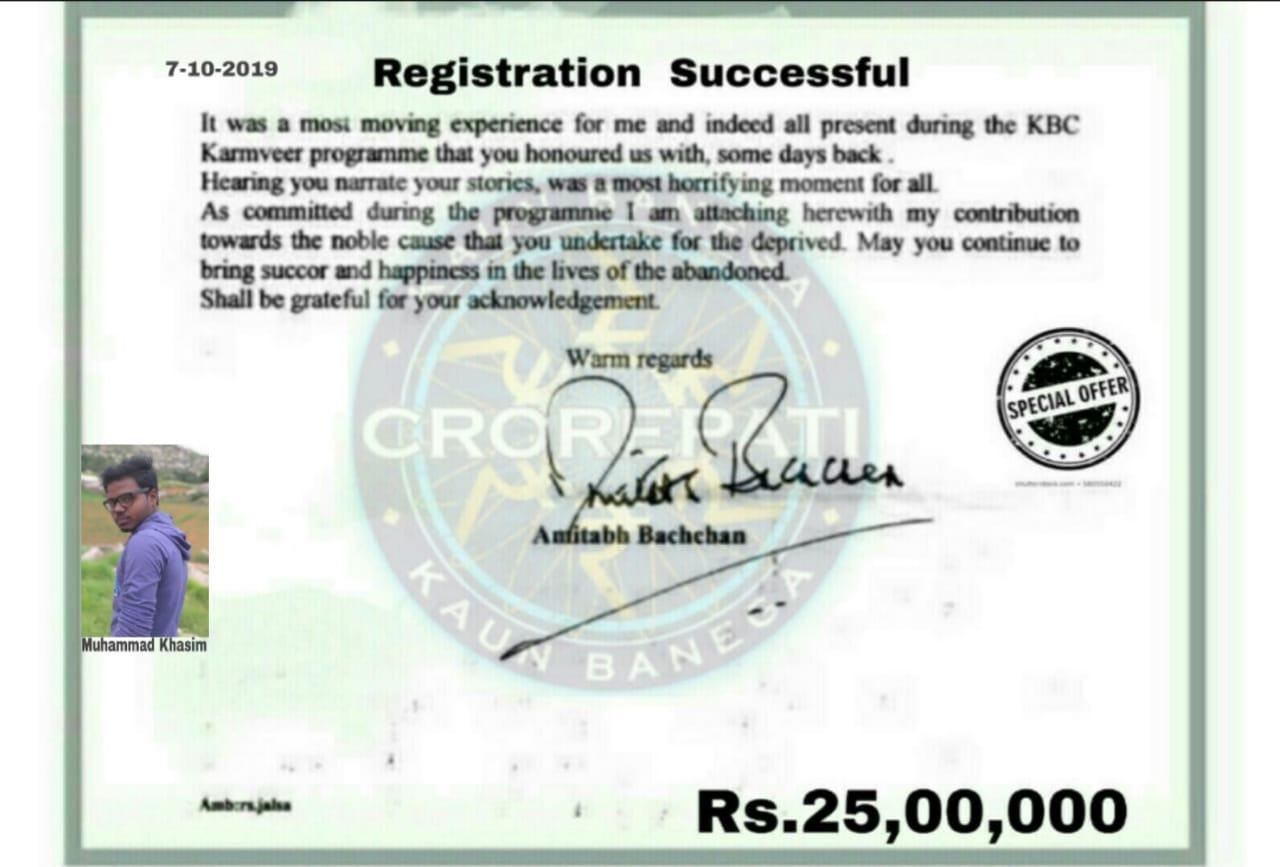 Muhammad khasim kbc lottery winner season 11 25 lakh
